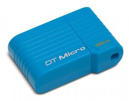 Флешка USB KINGSTON DataTraveler Mini Slim 16Гб, USB2.0, синий [dtmc/16gb]