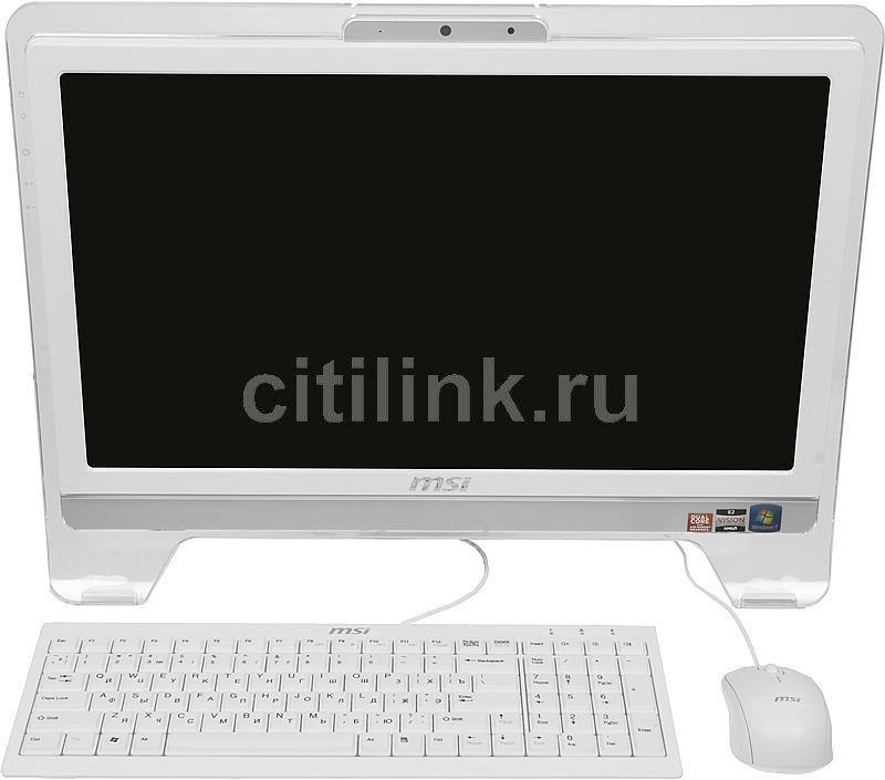 Моноблок MSI AE2050-094, AMD Fusion E450, 2Гб, 500Гб, AMD Radeon HD 6320, DVD-RW, Windows 7 Home Premium, белый [9s6aa5312094]