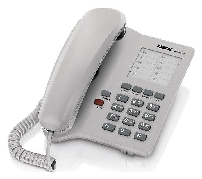 Проводной телефон BBK BKT-203 RU, серый