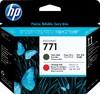 Печатающая головка HP CE017A черный матовый / хроматический красный вид 1