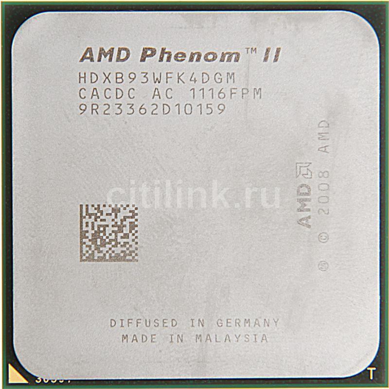 Процессор AMD Phenom II X4 B93, SocketAM3 OEM [hdxb93wfk4dgm]