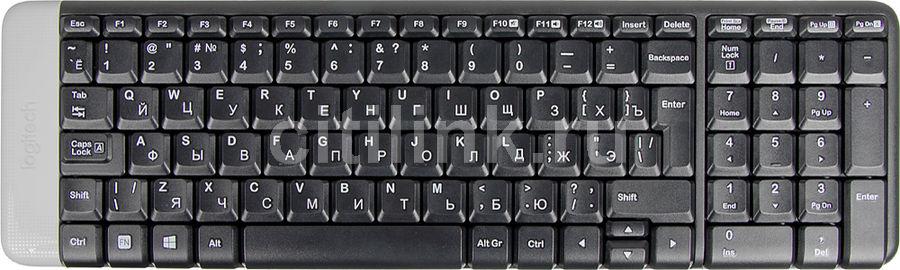 Клавиатура LOGITECH K230,  USB, Радиоканал, черный [920-003348]