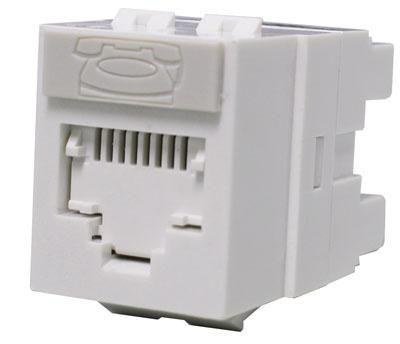 Модуль информационный Molex (KSJ-00024-02) UTP RJ45 кат.5e белый (упак.:1шт)