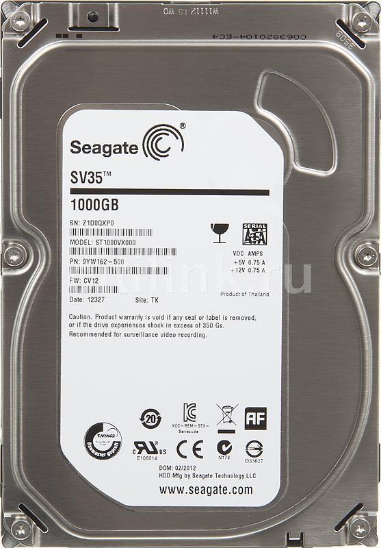 Жесткий диск SEAGATE SV35 ST1000VX000,  1Тб,  HDD,  SATA III,  3.5