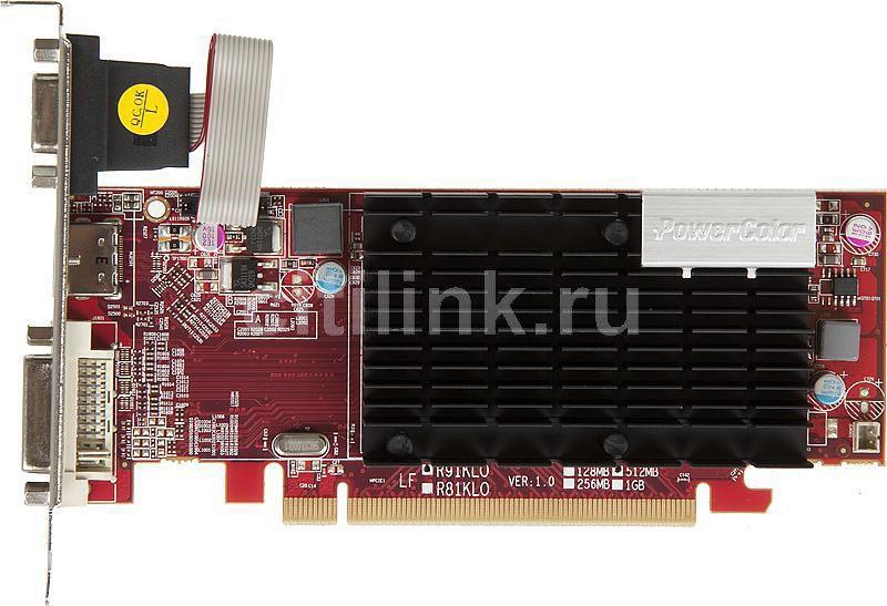Видеокарта POWERCOLOR Radeon HD 6450,  512Мб, DDR3, Low Profile,  oem [ax6450 512mk3-sh]