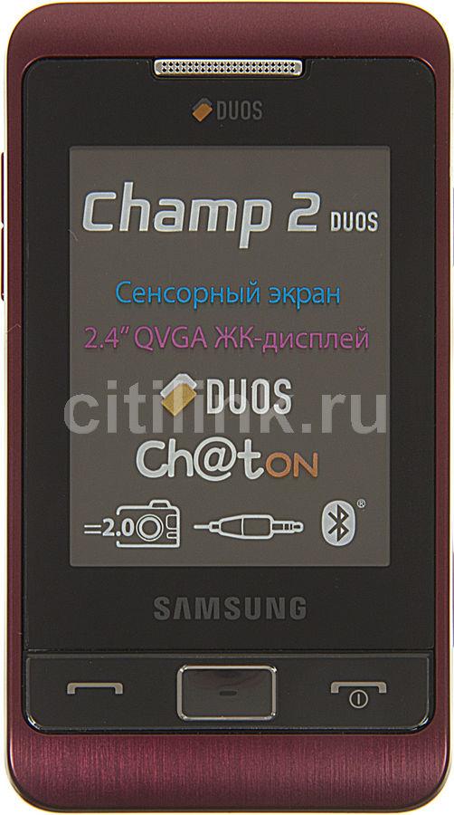 Мобильный телефон SAMSUNG Champ 2 Duos GT-C3332,  красный