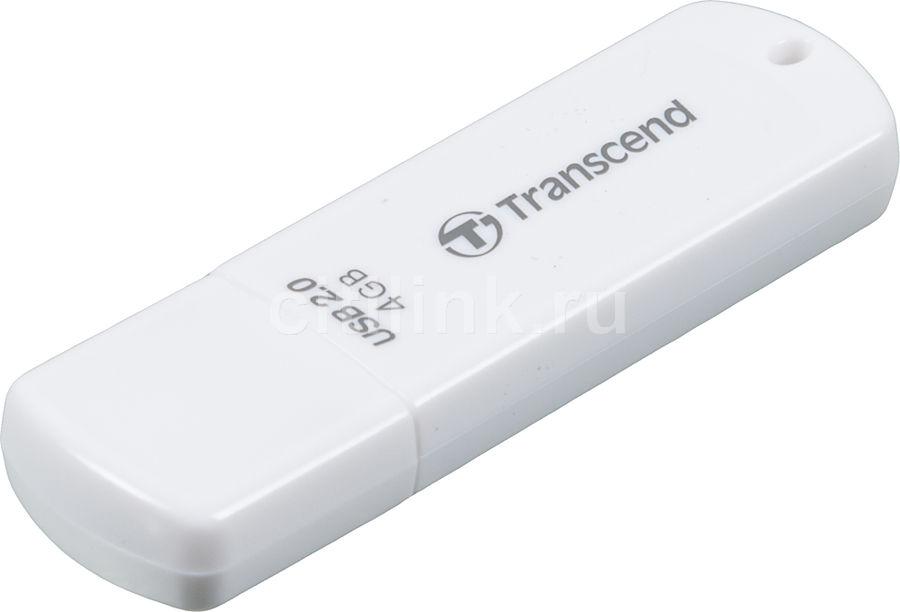 Флешка USB TRANSCEND Jetflash 370 4Гб, USB2.0, белый [ts4gjf370]