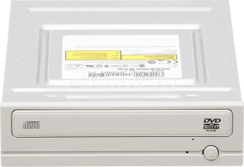 Оптический привод DVD-ROM SAMSUNG SH-D163C/BEWE, внутренний, SATA, белый,  OEM