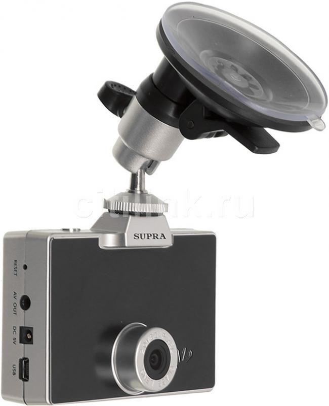 Видеорегистратор SUPRA SCR-480 серебристый