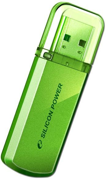 цены Флешка USB SILICON POWER Helios 101 32Гб, USB2.0, зеленый [sp032gbuf2101v1n]
