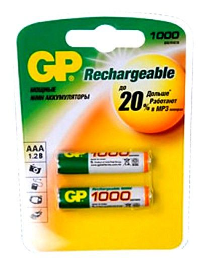 Аккумулятор  100AAAHC-CR2,  1 шт. AAA,  1000мAч