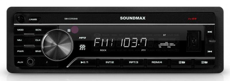 Автомагнитола SOUNDMAX SM-CCR3040,  USB,  SD/MMC