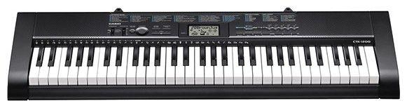 Синтезатор CASIO CTK-1200, 61, невзвешенная, полноразмерные, 12, черный