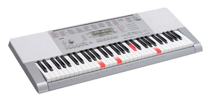 Синтезатор CASIO LK-280, 61, невзвешенная, полноразмерные, 48