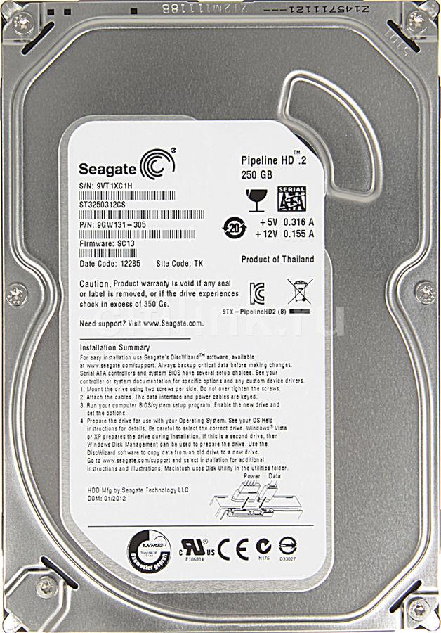 Жесткий диск SEAGATE ST3250312CS,  250Гб,  HDD,  SATA II,  3.5
