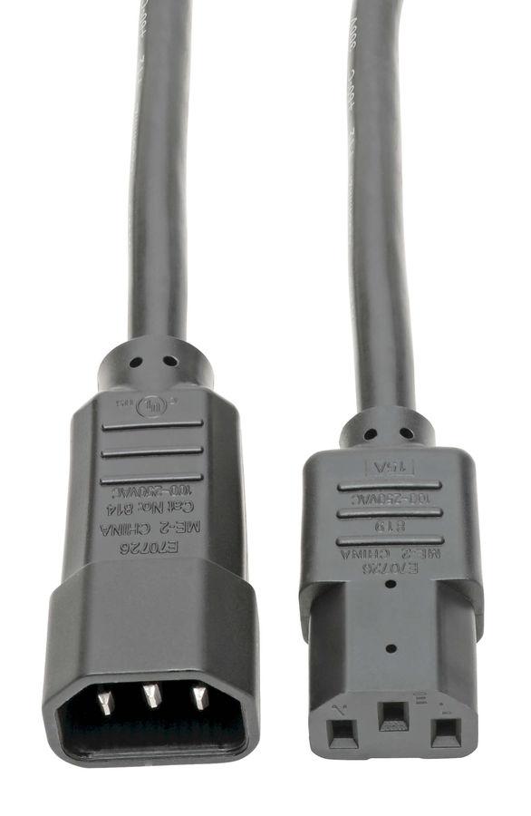 Кабель Tripplite P005-010 3m C13/C14 100-230V 15A 14Awg SJT