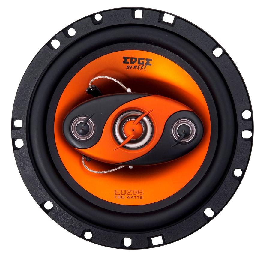 Колонки автомобильные EDGE ED206,  коаксиальные,  180Вт