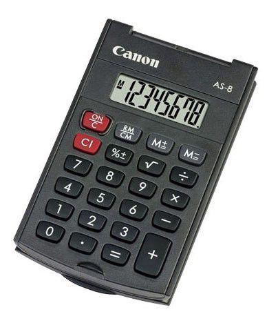 Калькулятор CANON AS-8,  8-разрядный, черный