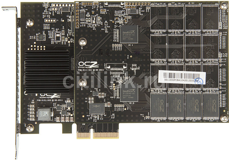 Накопитель SSD OCZ RevoDrive 3 X2 RVD3X2-FHPX4-240G 240Гб, PCI-E AIC (add-in-card), PCI-E x4