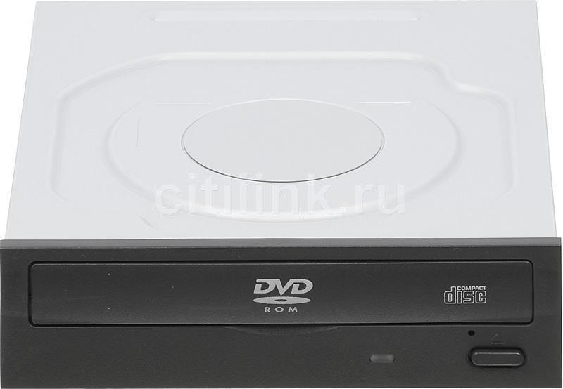 Оптический привод DVD-ROM LITE-ON IHDS118-07, внутренний, SATA, черный,  Ret