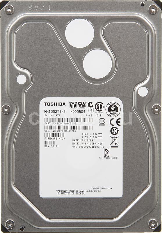 Жесткий диск TOSHIBA MK1002TSKB,  1Тб,  HDD,  SATA II,  3.5