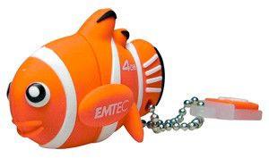 Флешка USB EMTEC M317 Clown Fish 4Гб, USB2.0, оранжевый [ekmmd4gm317]