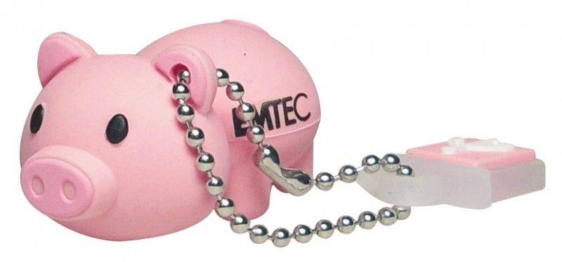 Флешка USB EMTEC M319 Pig 4Гб, USB2.0, розовый [ekmmd4gm319]