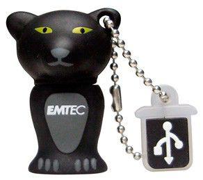 Флешка USB EMTEC M313 Panther 8Гб, USB2.0, черный и серый [ekmmd8gm313]