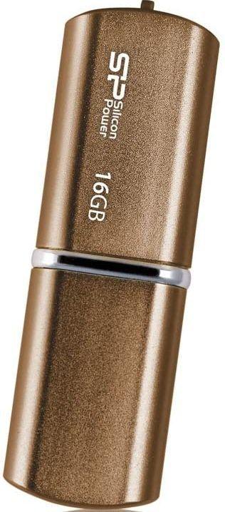 Флешка USB SILICON POWER LuxMini 720 16Гб, USB2.0, коричневый [sp016gbuf2720v1z]