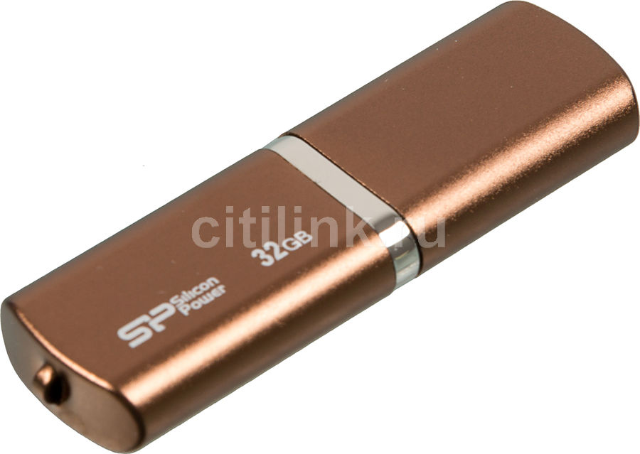 Флешка USB SILICON POWER LuxMini 720 32Гб, USB2.0, коричневый [sp032gbuf2720v1z]
