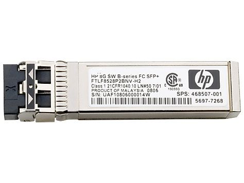Трансивер HPE 8Gb Short Wave B-Series SFP+ 1pack (AJ716B) трансивер hp mds 9000 8gb fc sfp short range xcvr aj906a
