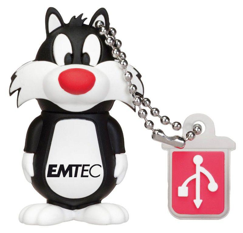 Флешка USB EMTEC L101 Sylvester 4Гб, USB2.0, белый и черный [ekmmd4gl101]