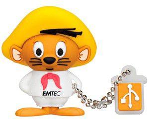 Флешка USB EMTEC L102 Speedy Gonzales 4Гб, USB2.0, коричневый и белый [ekmmd4gl102]