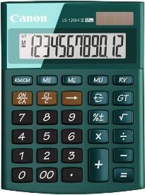 Калькулятор CANON LS-120HI III-GR,  12-разрядный, зеленый