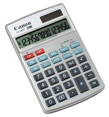 Калькулятор CANON LS-26 TC,  16-разрядный, серый