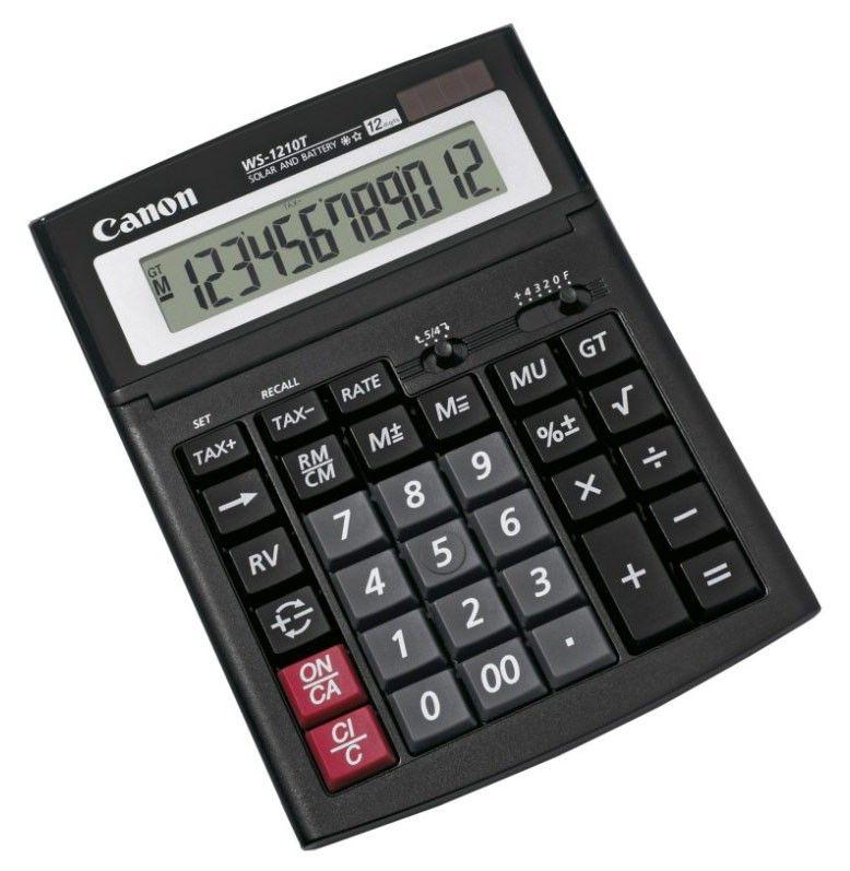 Калькулятор CANON WS-1210T,  12-разрядный, черный