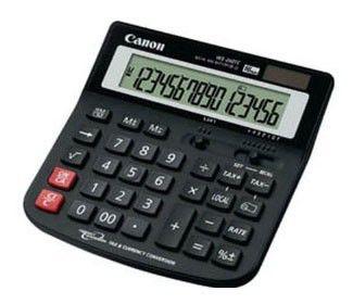 Калькулятор CANON WS-260 TC,  16-разрядный, черный