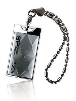 Флешка USB SILICON POWER Touch 850 32Гб, USB2.0, серебристый [sp032gbuf2850v1t]