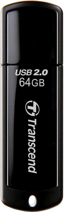 Флешка USB TRANSCEND Jetflash 350 64Гб, USB2.0, черный [ts64gjf350]