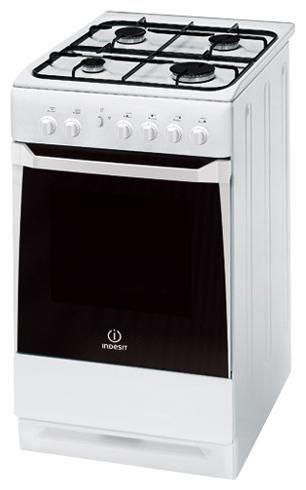 Газовая плита INDESIT KN3G2107 W,  газовая духовка,  белый