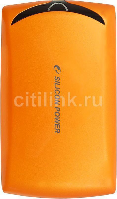 Внешний жесткий диск SILICON POWER Stream S10, 500Гб, оранжевый [sp500gbphds10s3o]