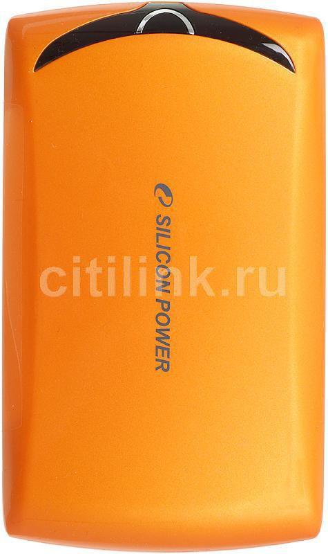 Внешний жесткий диск SILICON POWER Stream S10, 750Гб, оранжевый [sp750gbphds10s3o]