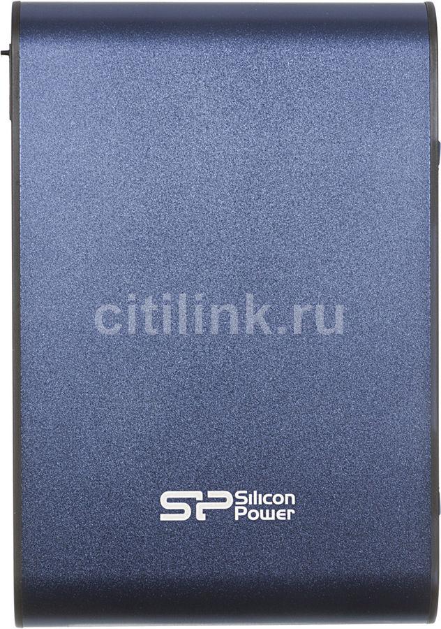 Внешний жесткий диск SILICON POWER Armor A80, 500Гб, синий [sp500gbphda80s3b]