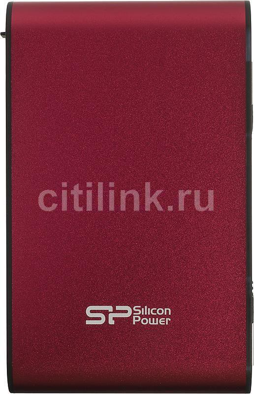 Внешний жесткий диск SILICON POWER Armor A70, 640Гб, красный [sp640gbphda70s2r]
