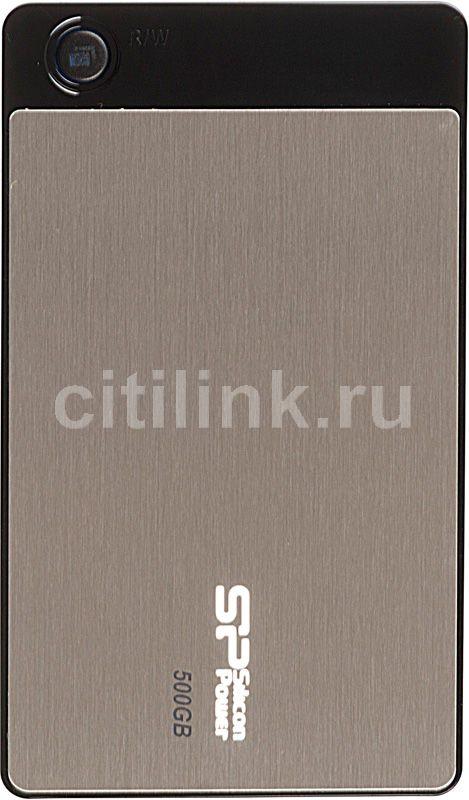 Внешний жесткий диск SILICON POWER Armor A50, 500Гб, серебристый [sp500gbphda50s2g]
