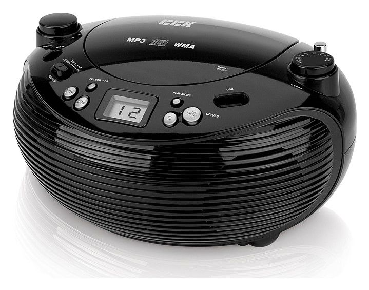 Аудиомагнитола BBK BX101U,  черный