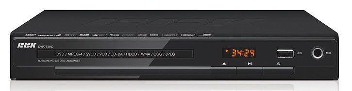 DVD-плеер BBK DVP754HD,  черный,  диск 500 песен