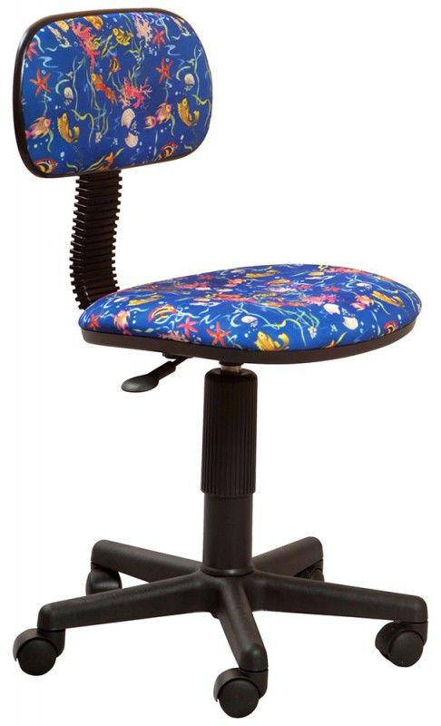 Кресло детское БЮРОКРАТ Ch-201NX, на колесиках, ткань, синий [ch-201nx/aquarium]