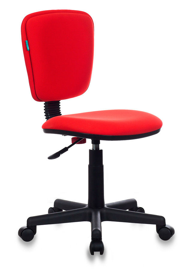 Кресло БЮРОКРАТ Ch-204NX, на колесиках, ткань, красный [ch-204nx/26-22]