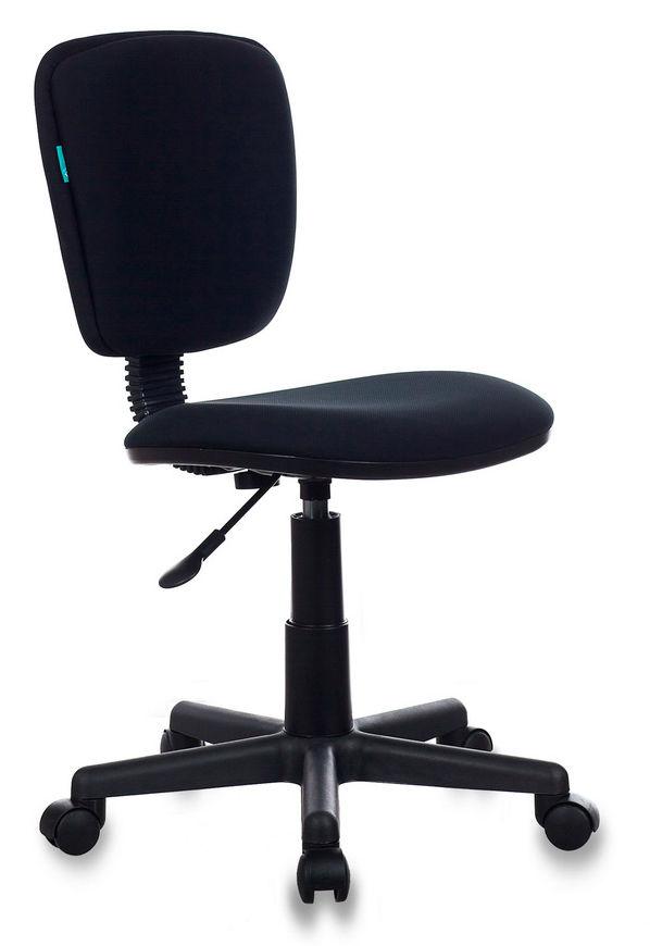 Кресло БЮРОКРАТ Ch-204NX, на колесиках, ткань, черный [ch-204nx/26-28]